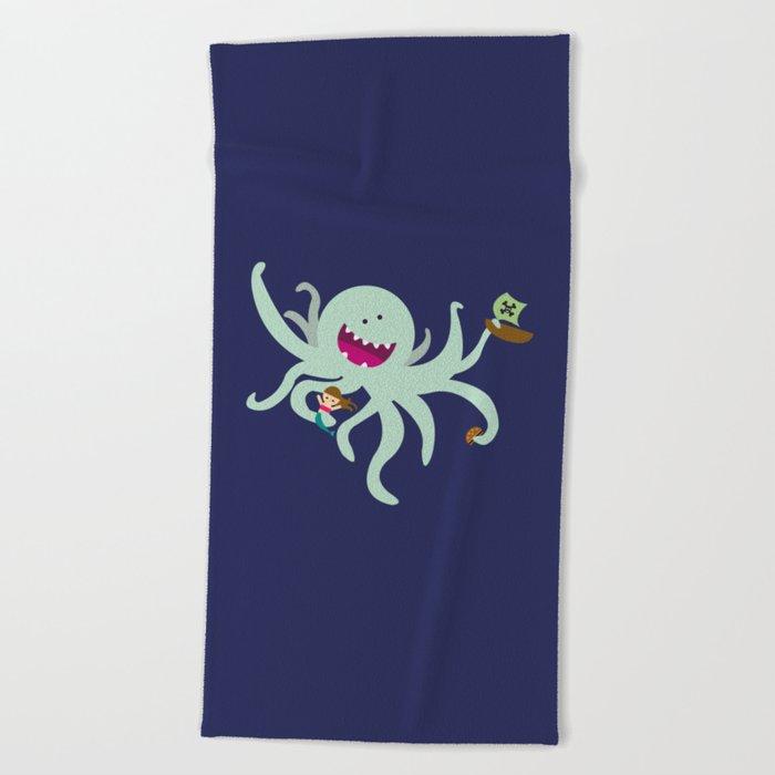 Kraken Beach Towel