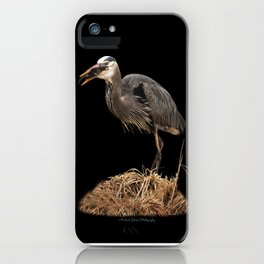 Heron Eating the Mole iPhone Case