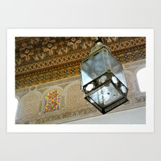 Lantern at Bahia Palace Art Print