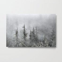 """""""Into The Foggy Woods"""" Wander. Yesterday at the mountains Metal Print"""