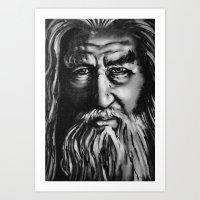 gandalf Art Prints featuring Gandalf by spiderdave7