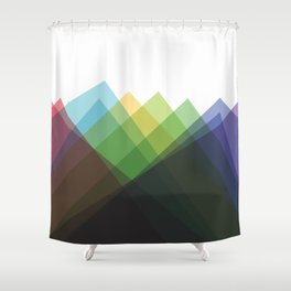 Fig. 002 Colorful Mountains Shower Curtain
