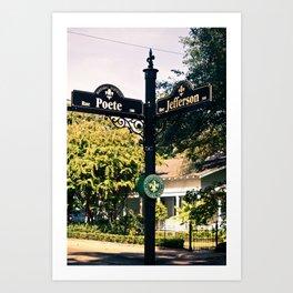 Cajun Crossroads. Art Print