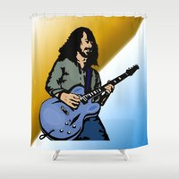 dave grohl Shower Curtains featuring Dave by Kramcox