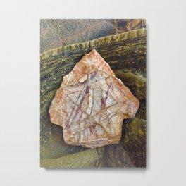 Pentagram Stone Metal Print
