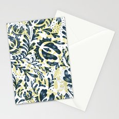 Blue Flowers Pattern Stationery Cards
