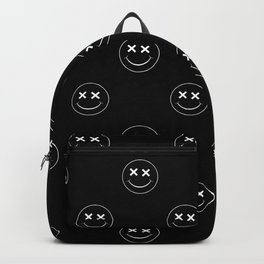 emoji smiley face pattern Backpack