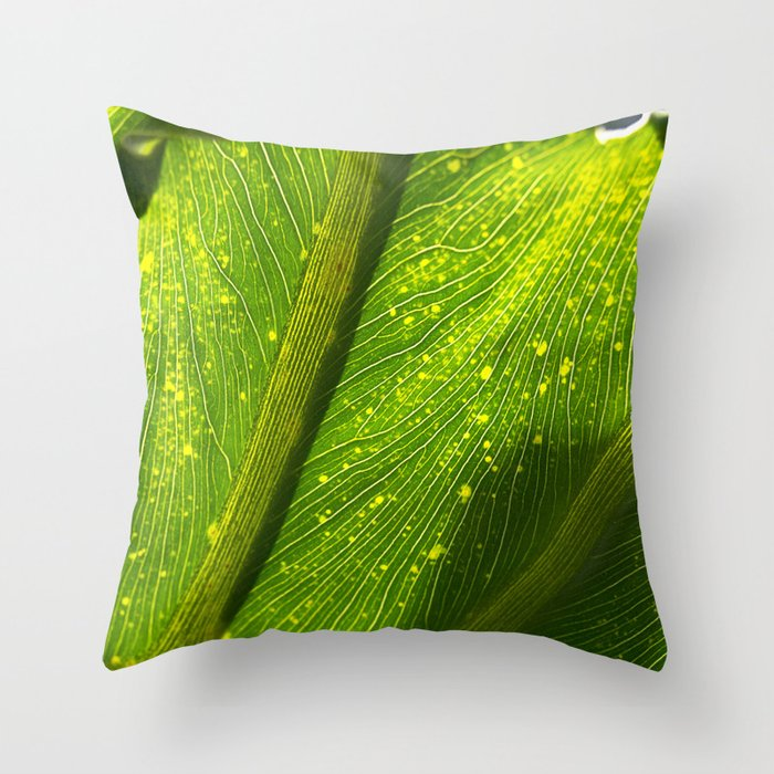 Spotted Leaf Throw Pillow