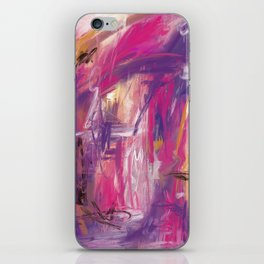 It is so Wavey Bright Pink Magenta Purple Handmade Abstract iPhone Skin
