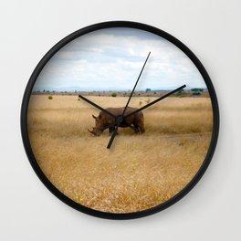 Rhino. Wall Clock