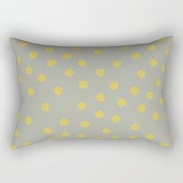 Simply Dots Mod Yellow on Retro Gray Rectangular Pillow