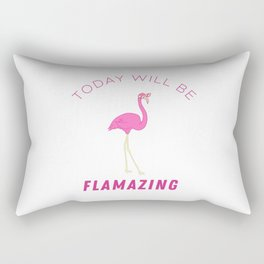 Funny Flamingo Summer Sun Sea Lake Vacation Gift Rectangular Pillow