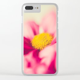 Flower Power (pink & yellow) Clear iPhone Case
