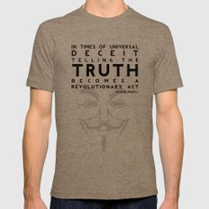 Truth Revolution Mens Fitted Tee Tri-Coffee X-LARGE