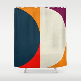 Geometric abstract / half circles Shower Curtain