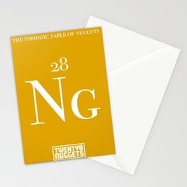 Periodic Table of Nuggets Stationery Cards
