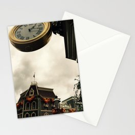 Main Street time Stationery Cards