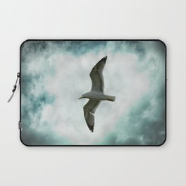 Seagull Before A Cloudy Sky Laptop Sleeve