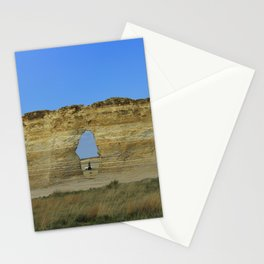 Monument Rock in western Kansas with blue sky. Stationery Cards