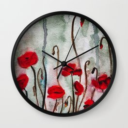 Poppy Dreams Wall Clock