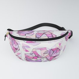 Watercolor Crystal Clusters - Pink Vibes Fanny Pack