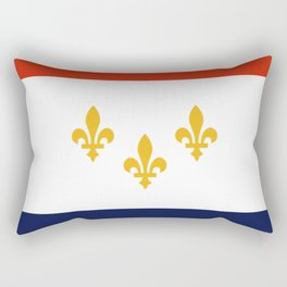 flag of new orleans,NOLA, Crescent City,Big Easy, Nawlins, jazz,Lousiana,french,cajun,treme Rectangular Pillow