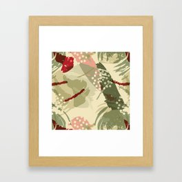 Abstract Holidays Framed Art Print