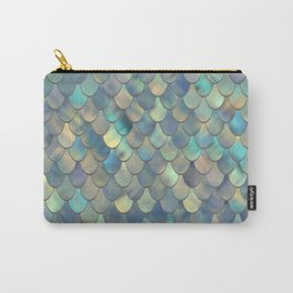 Mermaid Sea Shell Iridescent Carry-All Pouch