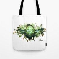 yoda Tote Bags featuring Yoda by Rene Alberto