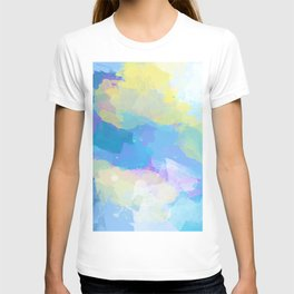 Colorful Abstract - blue, pattern, clouds, sky T-shirt