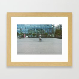 Radical inflection Framed Art Print