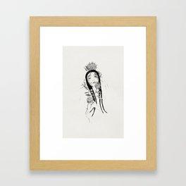 K o r e a n  g i r l Framed Art Print