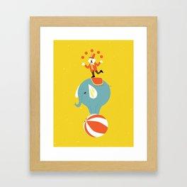 Circus Act Framed Art Print