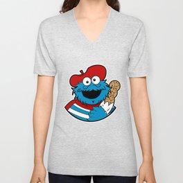 Le Cookie Monsieur Unisex V-Neck