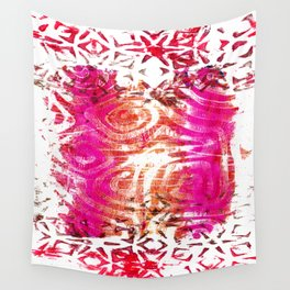 Pink, gold and red ghost print Wall Tapestry