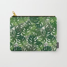 Exotic Palm Leaf Pattern Carry-All Pouch