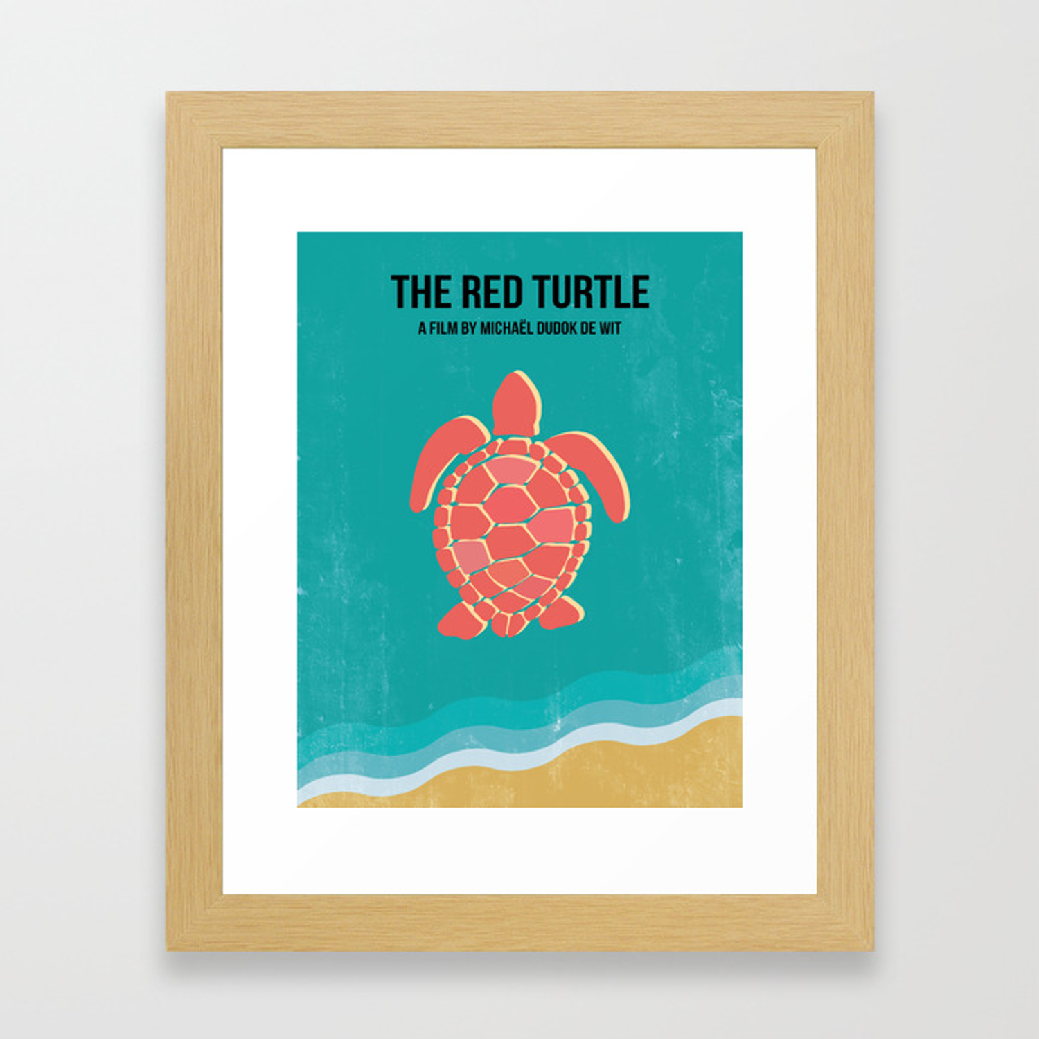 The Red Turtle Framed Art Print By Lelamarie7 Society6