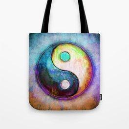 Yin Yang - Colorful Painting V Tote Bag