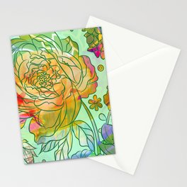 Pearly Peony Stationery Cards