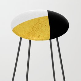 Gold & Black Geometry Counter Stool