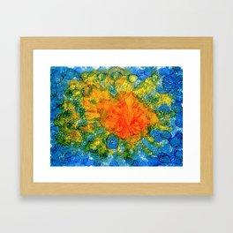 Sun Above Water Framed Art Print