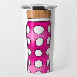Pink Water Bottle Travel Mug