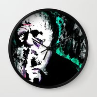chuck Wall Clocks featuring Chuck Darwin. by Fitz Royal