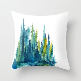 Limelight Pines - Pine Forest Throw Pillow