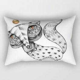 Fox and gold Rectangular Pillow