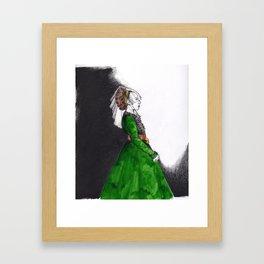 Northern Renaissance Woman Framed Art Print