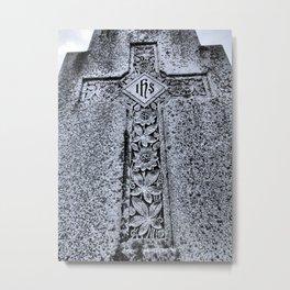 Sturm Gothic into the Darkness Cross Metal Print
