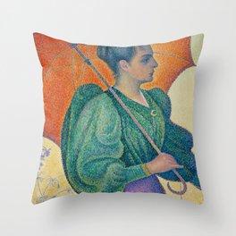 Woman with a Parasol (Femme à l'ombrelle) Throw Pillow