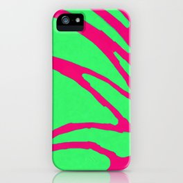 Green Pink Pattern iPhone Case