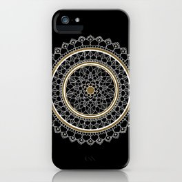 Black and Gold Mandala iPhone Case